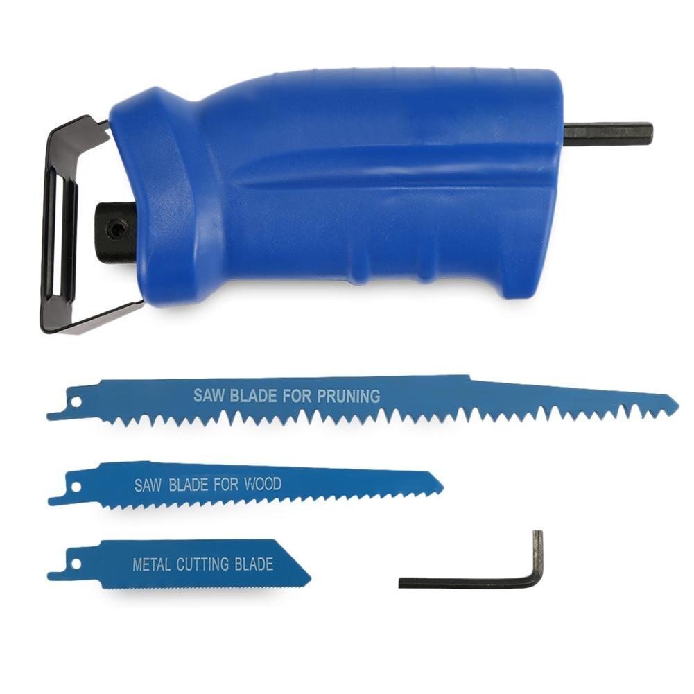 Портативный 3 лезвия сабельная пила электрическая дрель Мощность ful инструмент с Rotable ручкой 1/2 лезвие быстрое изменение Мощность инструмен...