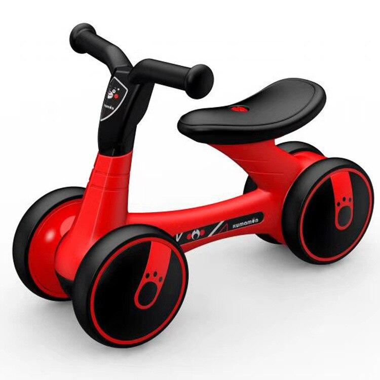 Enfants Balance voiture Scooter bébé marcheur 1-3 Y pas de pédale Yo voiture à quatre roues tapis roulant marche voiture équitation bambin jouets