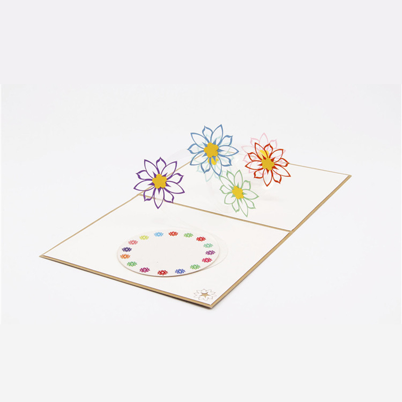 10 piecelotlaser cut handmade pop up 3d colorful flower 10 piecelotlaser cut handmade pop up 3d colorful flower personalized greeting cards for birthday party free shipping m4hsunfo