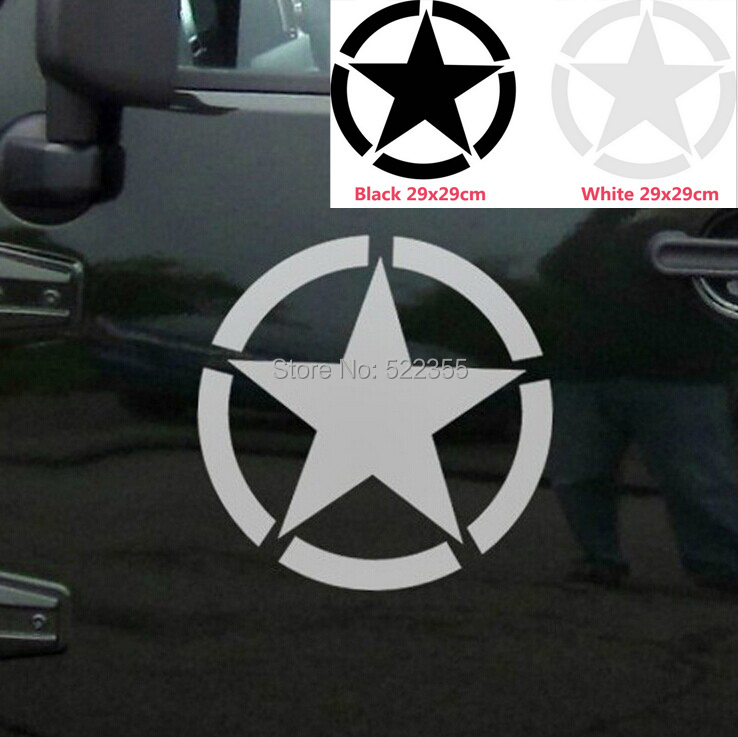 Big size 29cm star reflective vinyl decal sticker car door sticker engine cover sticker tire cover sticker exterior accessories in car stickers from