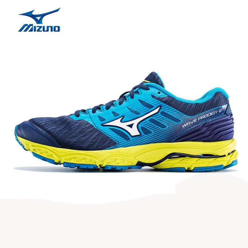 MIZUNO Men WAVE PRODIGY 2 Running Shoes Wearable Sports Shoes Breathable Cushion Sneakers J1GC181002 XYP766 mizuno wave paradox 2 mizuno mznj1gc1540