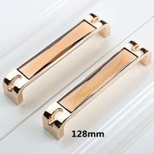 32mm 96mm 128mm 160mm moden fashion brown crystal win cabinet wardrobe door handles champagne gold dresser drawer pulls knobs 5″