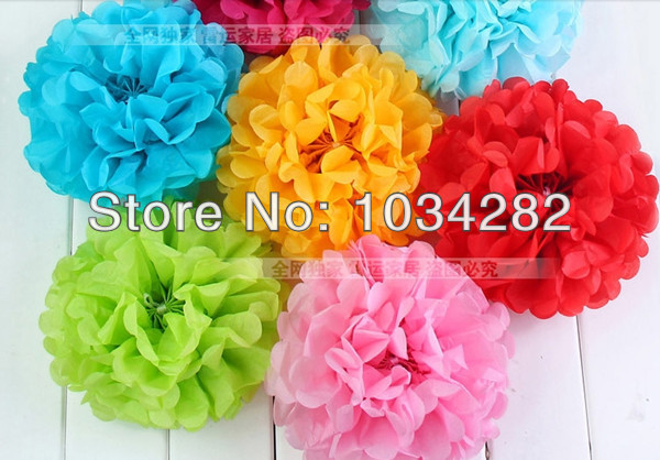 Newest craft paper ball for decoration tissue paper pom poms flower newest craft paper ball for decoration tissue paper pom poms flower balls japanese paper ball mightylinksfo