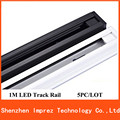 2016 New 1M LED Track light Rail For Tracking lights integration lamp fixture store shopping mall lighting 2 line/wire rail