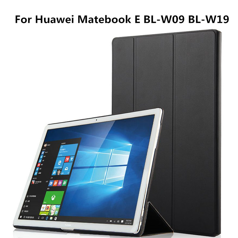 Ultra-slim Folding PU Leather Protective Case Shell with stand For Huawei MateBook E BL-W09 BL-W19 12 inch Tablet Luxury  Cover mediapad m3 lite 8 0 skin ultra slim cartoon stand pu leather case cover for huawei mediapad m3 lite 8 0 cpn w09 cpn al00 8