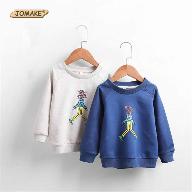 Spring Cartoon Character Printed Children Sweatshirt Kids O-Neck Cotton Tops For Girls/Boys Casual Baby Kids Clothes 2-7 Years