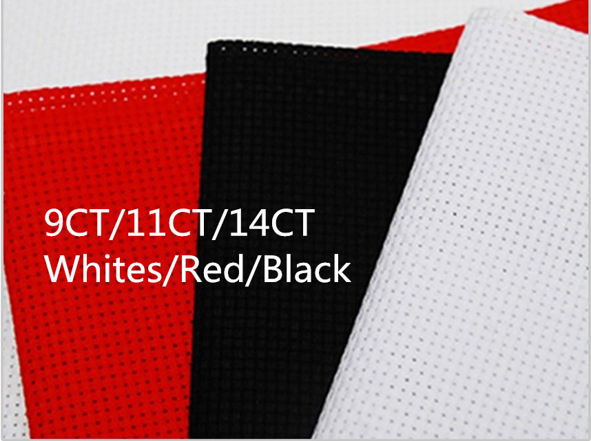 US $9 73 27% OFF|Cross Stitch Factory Shop Aida Cloth 9CT OR 11CT OR 14CT  Canvas Available 50X50cm Whites or Red or Black Fabric Great choice-in Aida