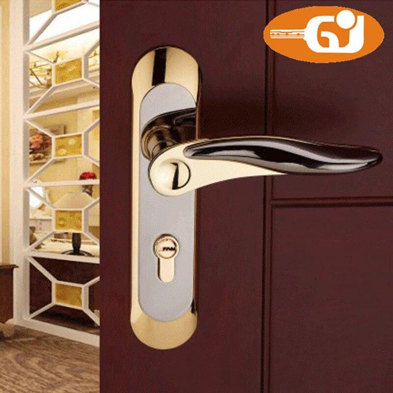 OEM Zinc Alloy Door Handle Lock For Interior Door Supplier Good quality oem interior black door knob
