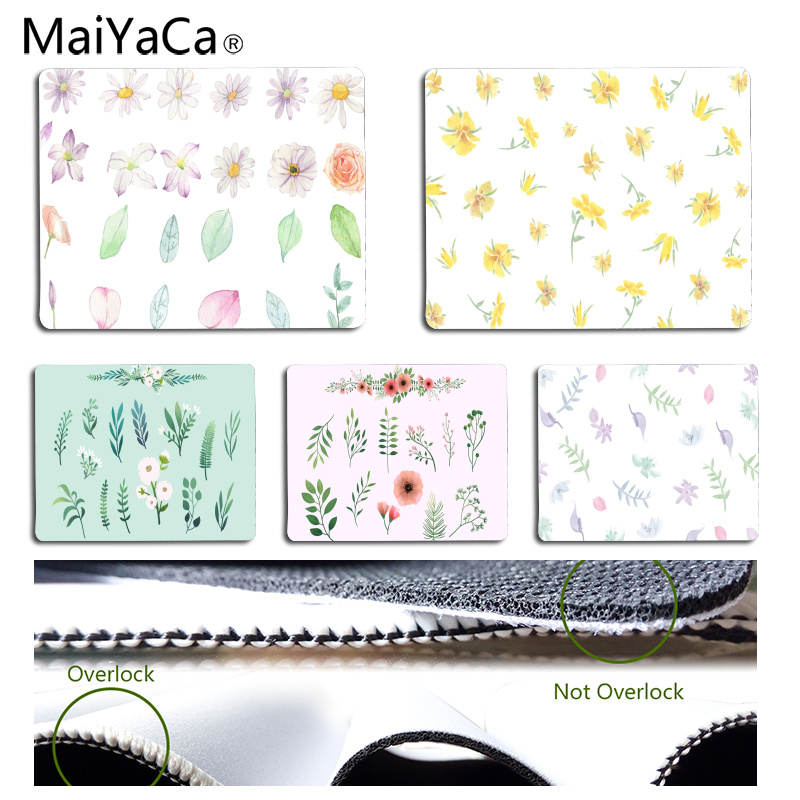 MaiYaCa Personalized Cool Fashion Hand Painted Flower Leaves Office Mice Gamer Soft Mouse Pad Size for 180*220*2mm Mousepad