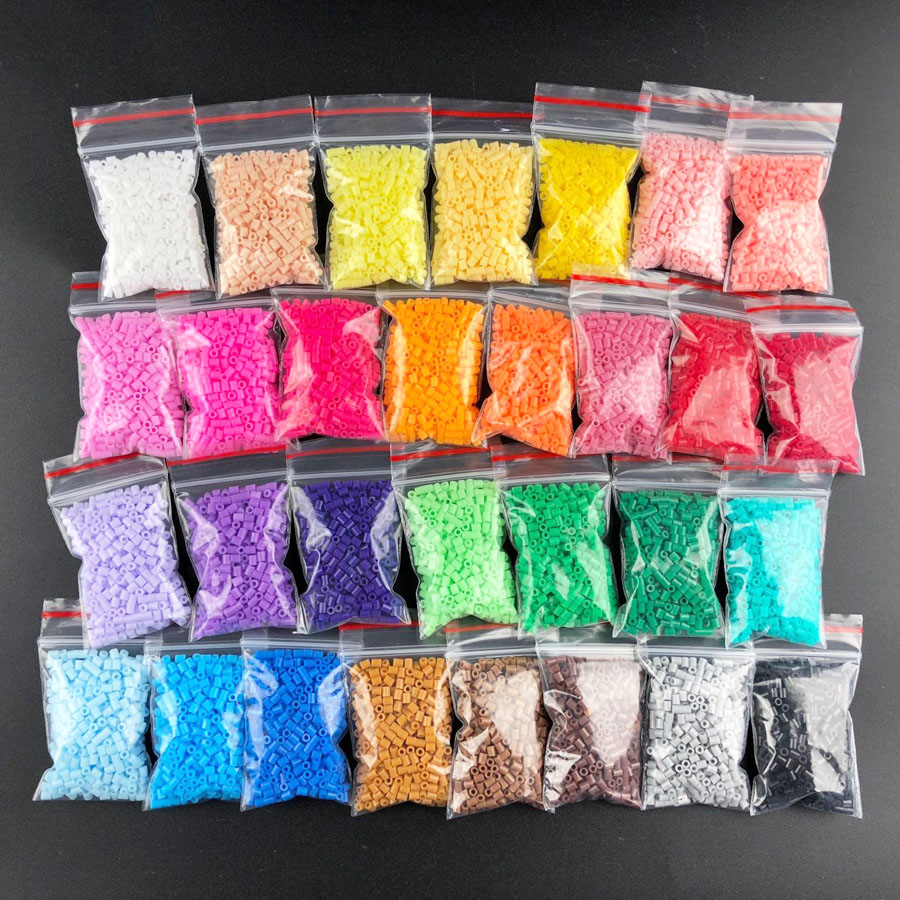 2.6mm Mini Hama Beads One Bag About 500/Pcs Bag 30 Colors Perler Toy Available Guarantee PUPUKOU Beads Activity Fuse Beads