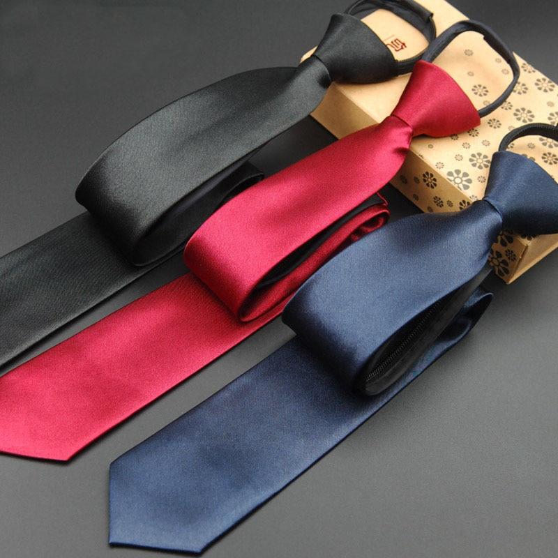 Férfi nyakkendő cipzáras nyakkendő 5cm piros kék sárga nyak - Ruházati kiegészítők