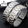 Substituição Pulseira straps Relógios de marca para L2 L3 L4 15mm 17mm 20mm ligação Relógio de Aço Inoxidável sólido pulseira acessórios
