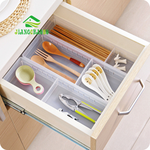 JiangChaoBo Transparent Multi Cabinet Drawers Storage Boxes Kitchen Utensils Small Free Partition Tables