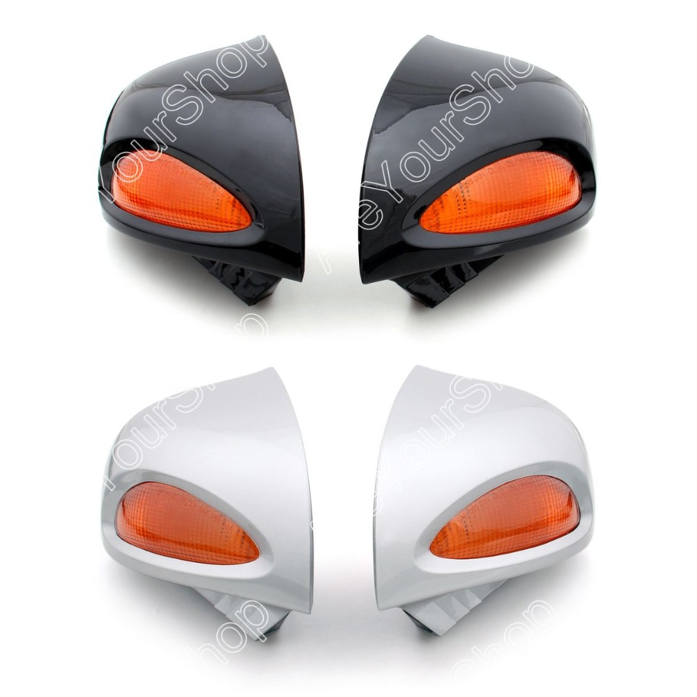 Areyourshop продажа для BMW r1100rt r1100rtp r1150rt мотоцикл мото сзади Зеркала со светодиодной поворотники объектива Пластик серебристый, черный