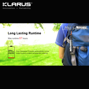 Image 3 - En çok satan KLARUS Mi7 Ti 700 lümen CREE XP L HI V3 LED taşınabilir titanyum AA el feneri ücretsiz pil ile