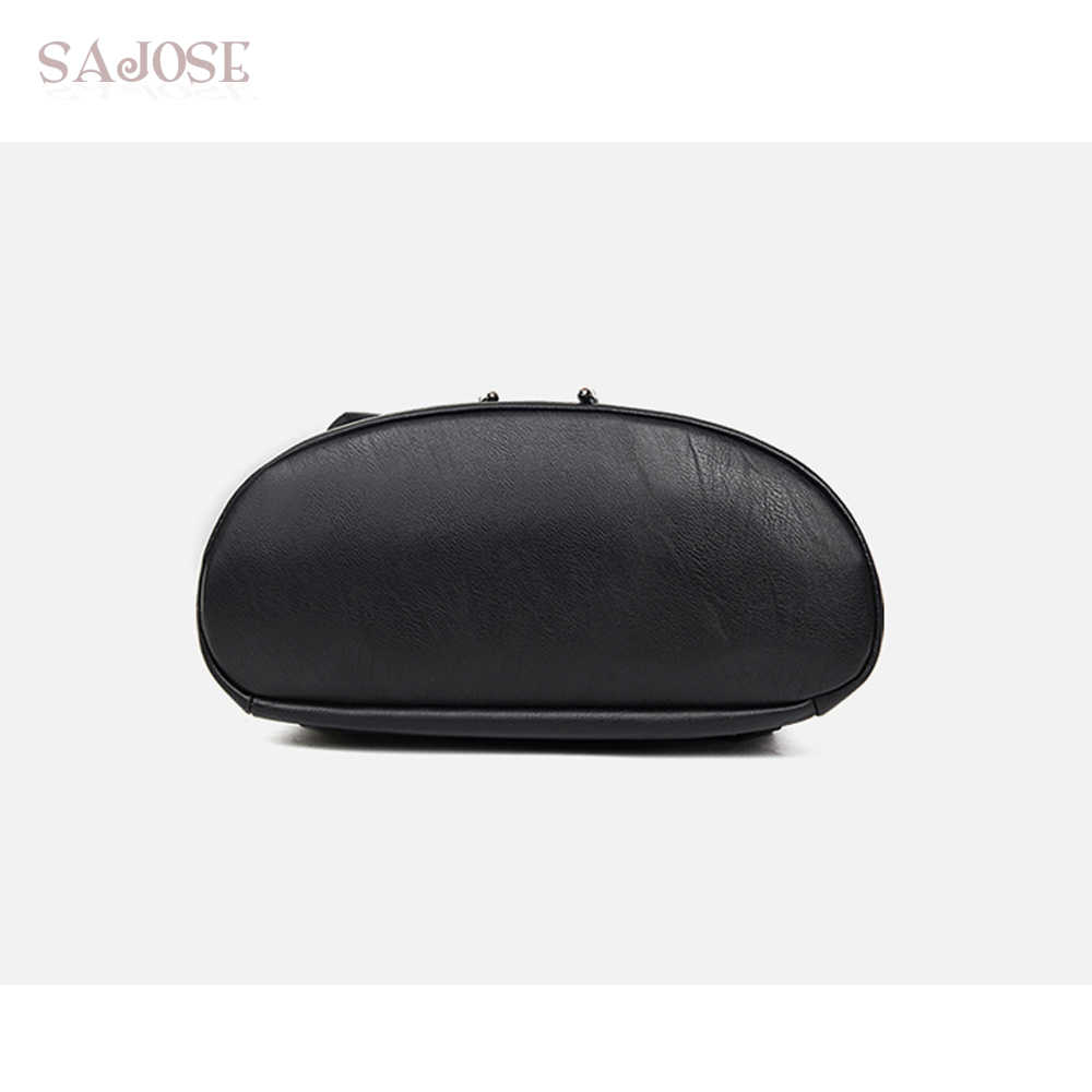 SAJOSE 2017 Япония и Южная Корея Стиль кожа высокого качества рюкзак на веревках на плечо женские школьные сумки женские рюкзаки