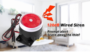 Image 4 - KERUI Mini Wired Siren Horn For Wireless Home Alarm Security System 120 dB loudly siren