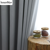 Innermor Blackout Curtains For Living room High shading Thick curtains for bedroom Faux Linen drapes for kitchen Customized