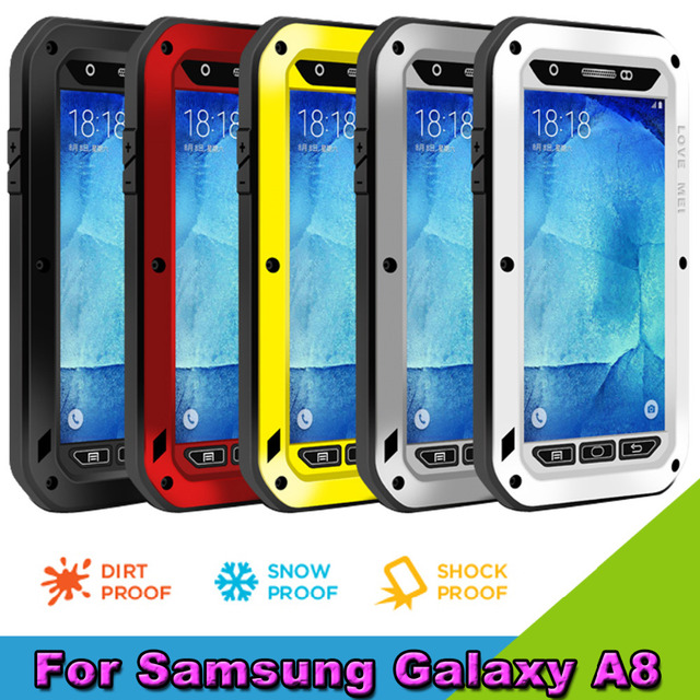 timeless design 626ad 4d0db US $35.42 |NEW LOVE MEI Metal Waterproof Case for SAMSUNG Galaxy A8 Silicon  Metal Combo Protective Phone Bags Cases With Gorilla Glass on ...