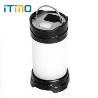 ITimo Lanternes Portatives USB Recharge 7 Modes 18650 Batterie Puissance Flash LED Extérieure batterie externe Blanc/Rouge Lampe de Camping Lumière
