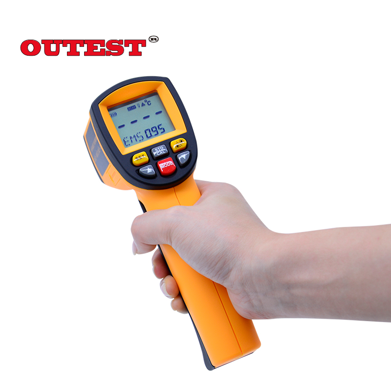 все цены на 100% Original BENETECH Non-contact ir Laser infrared thermometer 200 to 1650degree (392~3002F) GM1650 gun infrared thermometer онлайн