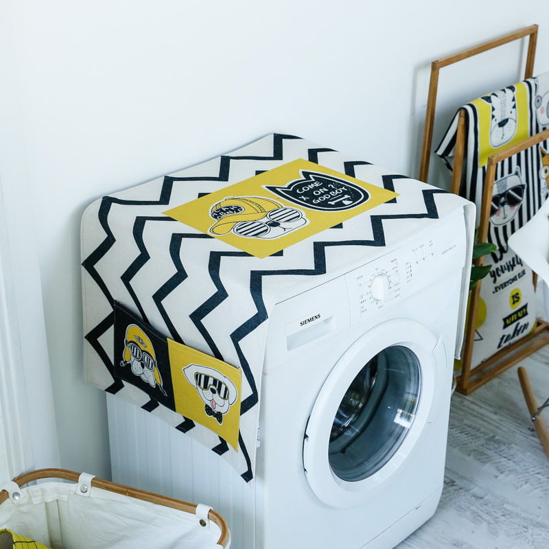 Hand Painted Trend Washing Machine Cover Roller Automatic