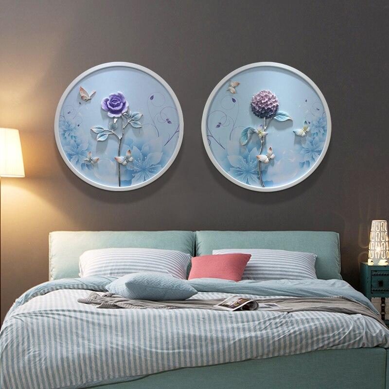 3D Reliëf Hars Bloemen Huis Muur Opknoping Vlinder Ambachten Muur Achtergrond Muurschildering Ornament Bruiloft Livingroom Wall Decor R2073 - 2