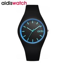 Moda señoras reloj deportivo de silicona estudiante correa de reloj de cuarzo niños niños impermeable reloj reloj mujer
