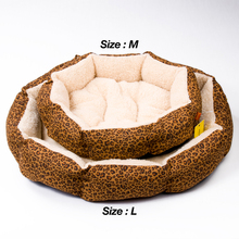 Colorful Leopard print  Dog bed