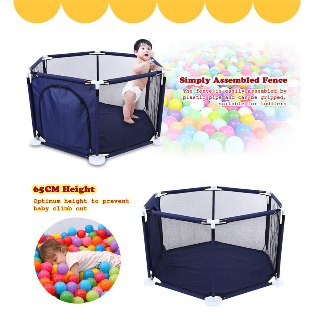 Raised Net Yarn Hexagonal Ball Pool Play Fence Playyard Kids Toy Tent Indoor Outdoor Baby Playpens Children Tent For Kids 2018