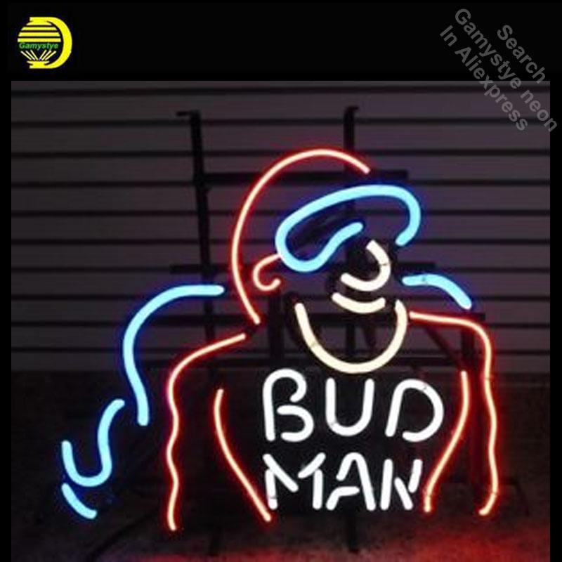 RARE Vintage Original Bud Man neon Signs Glass Tube neon lights Recreation Windows Iconic Neon Light signs neon lights for sale eitech металлический конструктор eitech грузовик 270 деталей