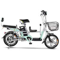 16-inch electric bicycle 48V lithium battery Child seat family-child electric bicycle outdoor City electric scooter ebike