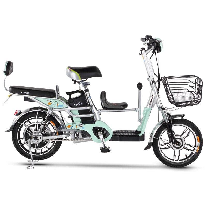 16-polegada 48 V bateria de lítio bicicleta elétrica cadeira de Criança família-Cidade scooter elétrico criança bicicleta elétrica ao ar livre ebike