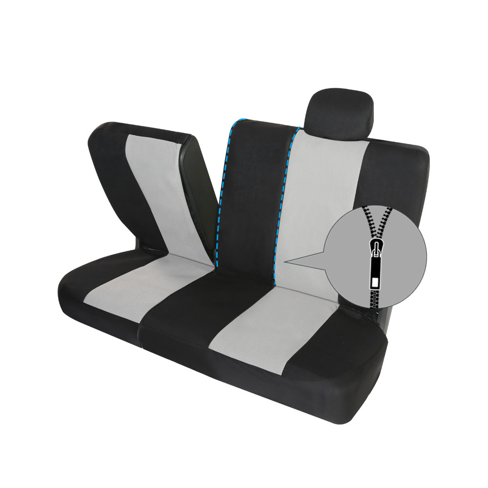 Image 3 - Universal car seat cover Fit Most Cars Covers Gray polyester Automotive interior auto seat covers Front and rear soft seat cover-in Automobiles Seat Covers from Automobiles & Motorcycles