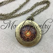 Drop Shipping Sri Yantra Pendant Necklace Sacred Geometry Sri Yantra locket pendant Jewelry wholesale