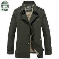 Brand NianJeepJackets Men Spring Autumn Loose Long Style ArmyGreen Windbreaker Cotton Slim Classic Male Military Jacket
