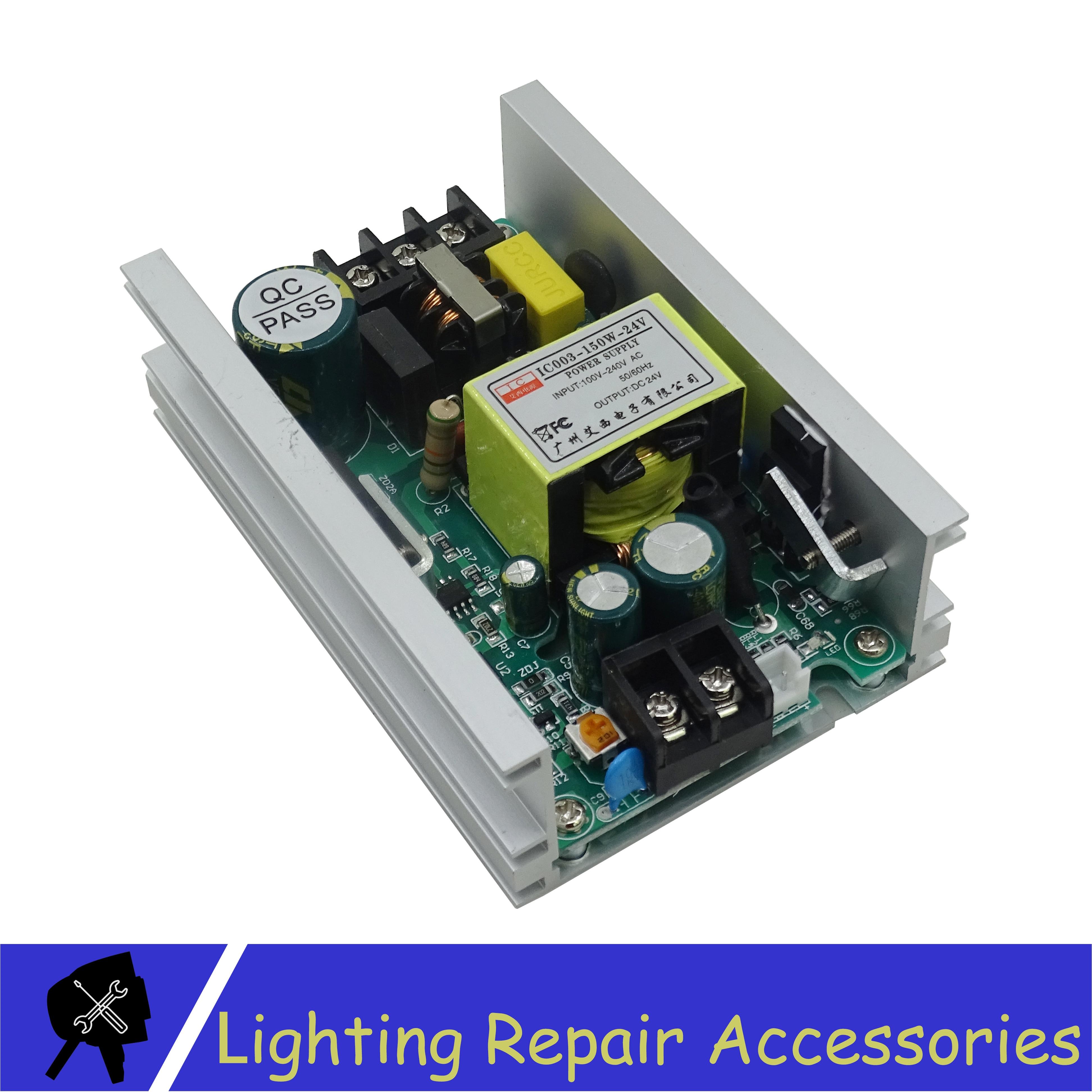 Led Par импульсный источник питания 24 В 6.5A для 54x3w 18x12w 18x10w 36x3w запасные части для ремонта сценического освещения