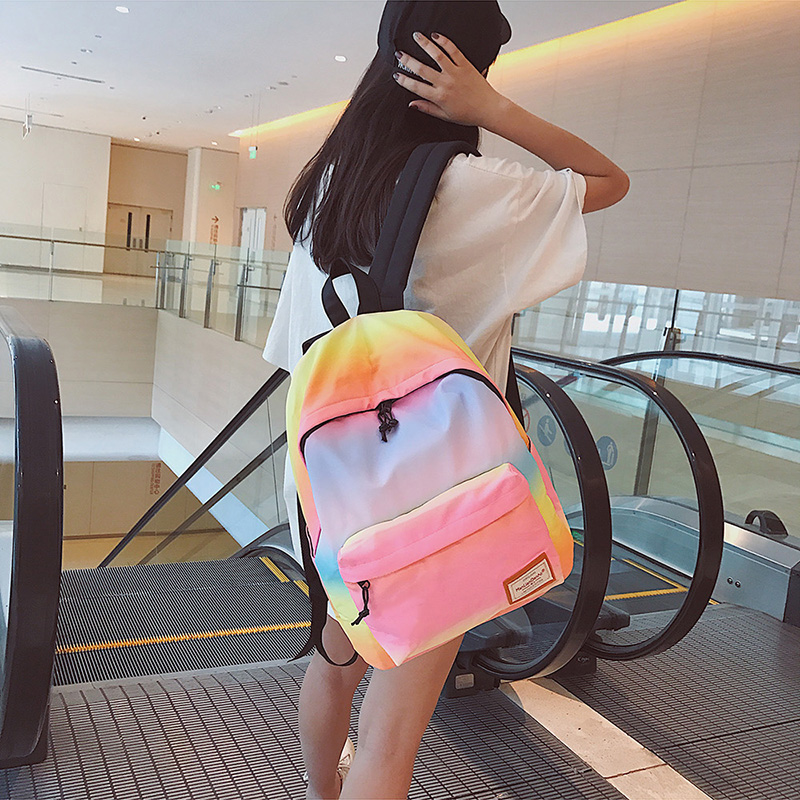 2017 Kids Children School Bags For Girls Boys Rainbow School Back Harajuku Backpack In Primary Schoolbag Mochila Infantil Zip