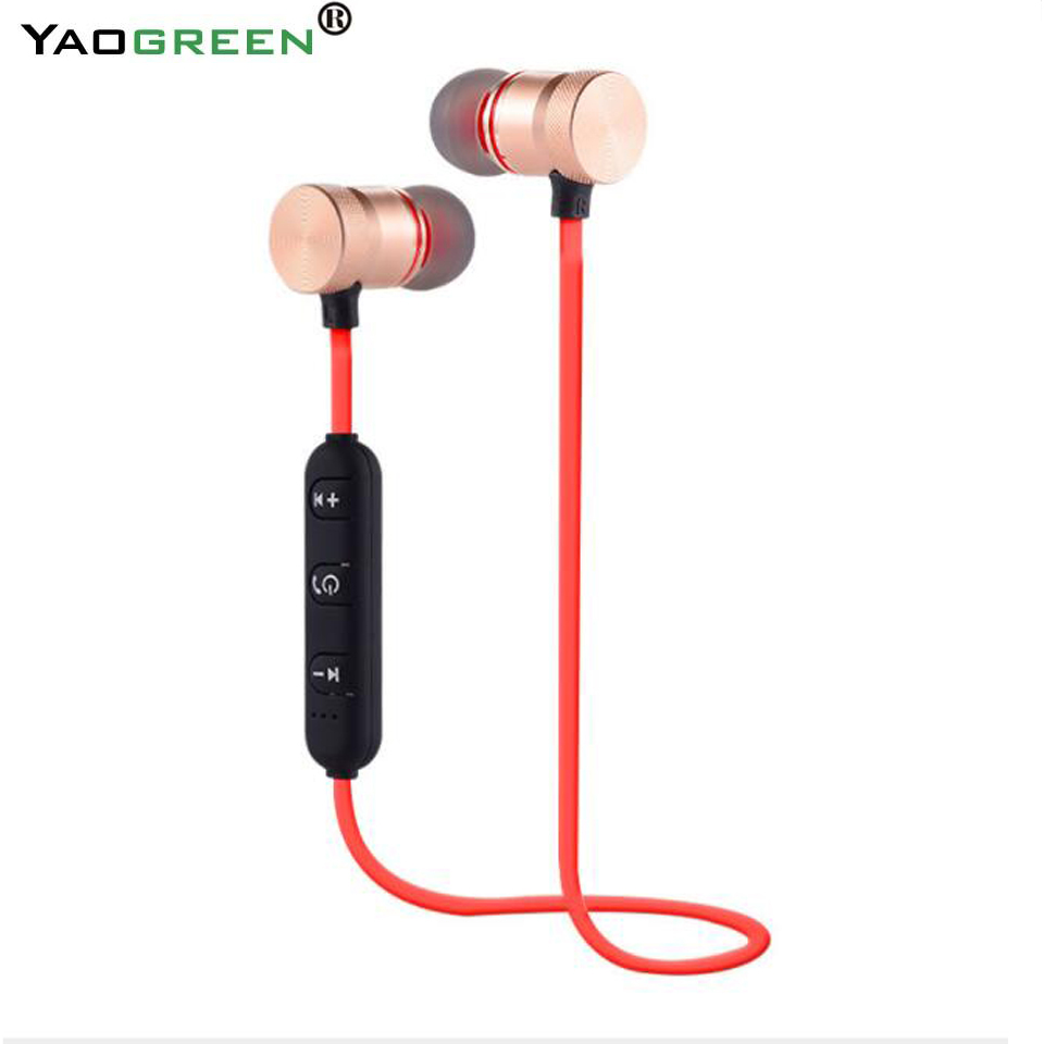 Top Quality Bluetooth Magnetic Headset Sport Wireless Earphone Earbud Noise Canceling with Mic for Xiaomi iPhone fone de ouvido dacom wireless headphone 4 1 sport bluetooth earphone noise cancelling headset ear hook stereo fone de ouvido for samsung xiaomi