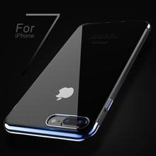 FLOVEME ipone 7 Case Original For iphone 6 6s 7 Plus Case Silicone Frame Transparent Backplane Cover Luxury Slim Phone Shell
