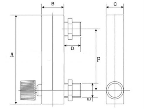 """Купить LZM-6T 1-10LPM/2-20SCFH тип панели акриловые расходомер (расходомер) с отрегулировать клапана бас установки Женский G1/4 """"Мужской M18 * 1.5 дешево"""