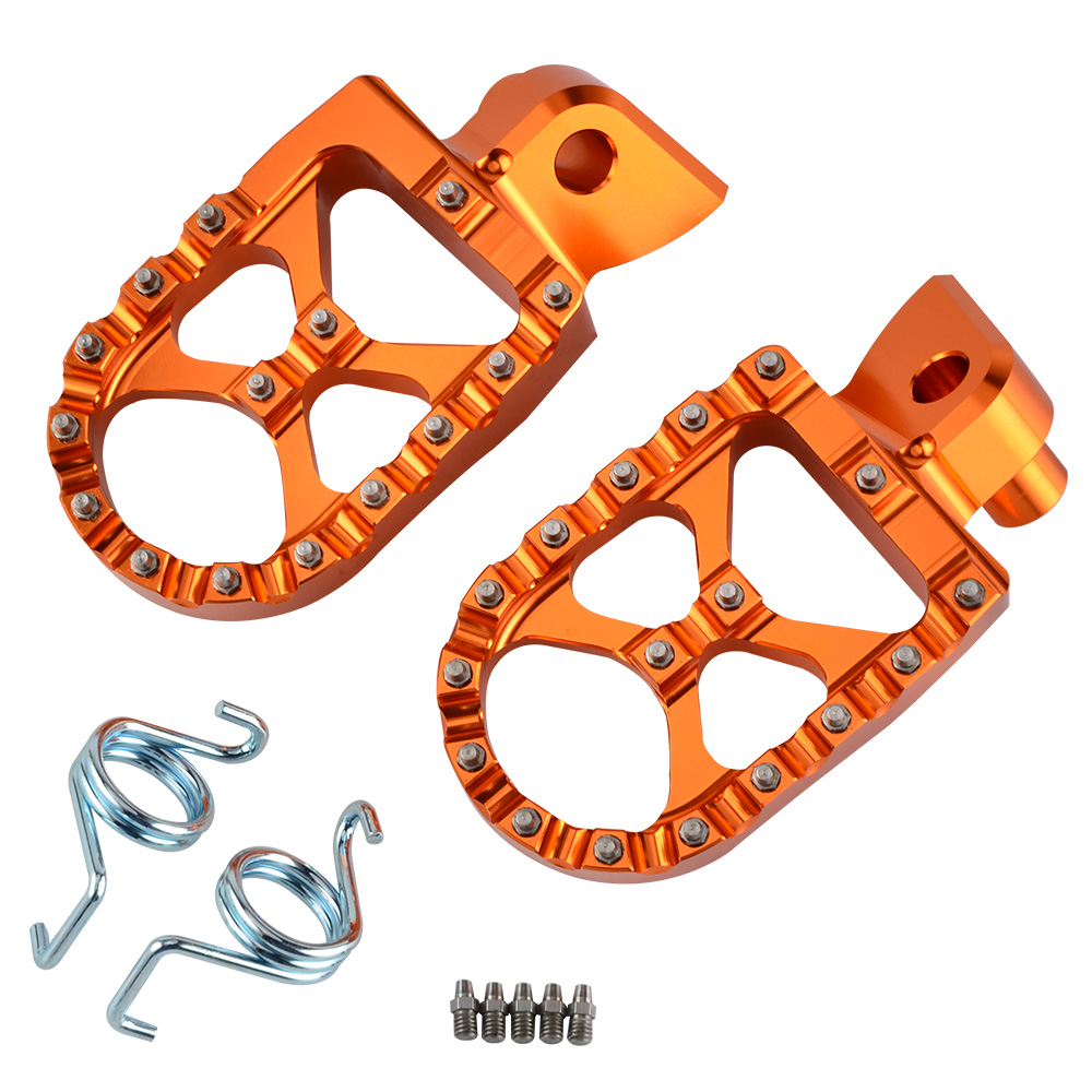 NICECNC 57mm MX Foot Pegs Rests Pedals Flat Teeth For KTM 950 990 1050 1090 1190 1290 Adventure Super Motor Enduro FootrestsNICECNC 57mm MX Foot Pegs Rests Pedals Flat Teeth For KTM 950 990 1050 1090 1190 1290 Adventure Super Motor Enduro Footrests