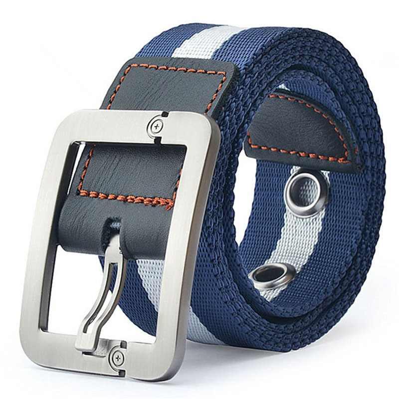 MEDYLA venta directa Real Cintos femeninos Cinto femenino cinturones para  hombres cinturón de lona hebilla de 1a1ebb79cf25