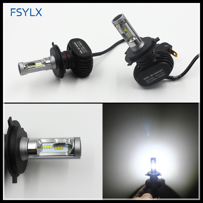 FSYLX H4 H13 9004 9007 car LED Headlight H4 LED fog lamps 8000LM H13 9004 9007 H4 hi/lo LED headlamps headlight <font><b>Conversion</b></font> kit