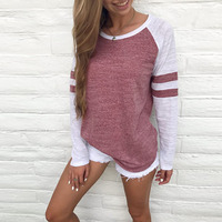 Fashion Celmia Women O Neck Long Sleeve Patchwork Striped Shirt Pullover Casual Loose Baseball Tops Streetwear