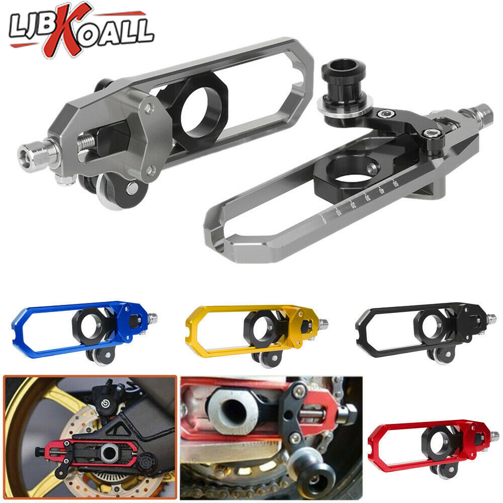 Rear Chain Adjuster with Swingarm Spools Red For BMW S1000RR 09-14 HP4 S1000R US