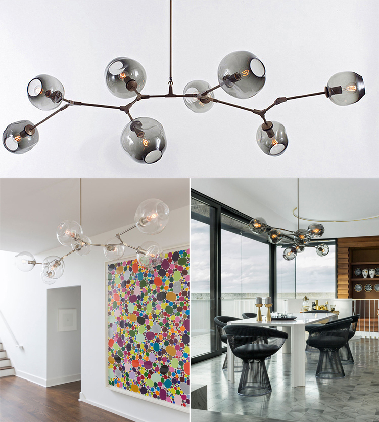 Modern Branch Bubble Shaped Multi Shaped Chandelier New York Art DNA MolecularBranch Ball Magic Bean Multicolor Glass Chandelier in Chandeliers from Lights Lighting