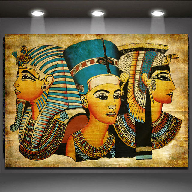 new arrival pharaoh of egypt unframed home decoration paintings