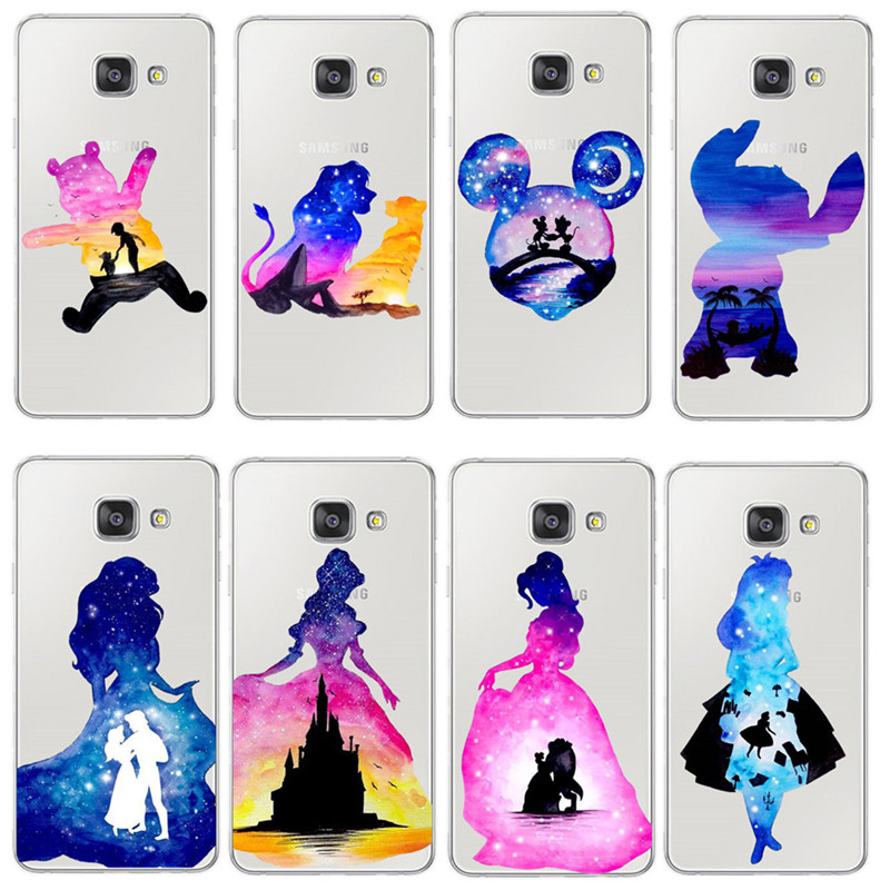 Clear Soft Silicon Cover Coque for Samsung Galaxy J3 J5 J7 A5 2016 2017 S6 S7 Edge S8 S9 Plus Case Princess Alice lion king image