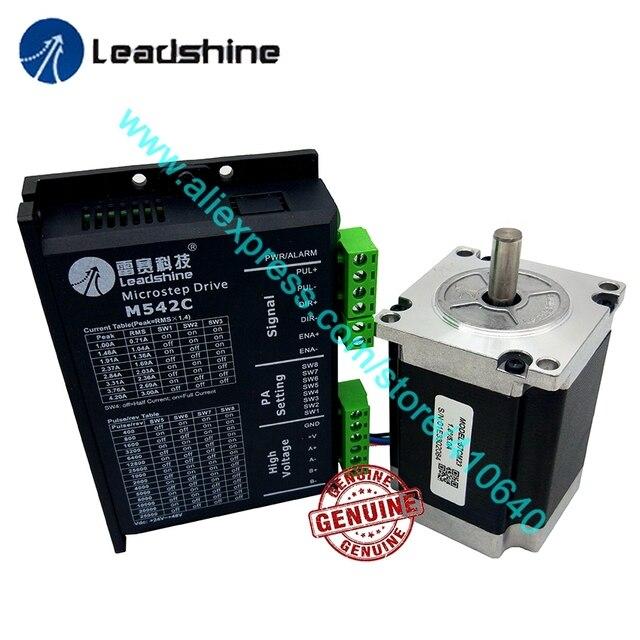 Genuine Leadshine NEMA23 Stepper Motor 57CM23 8 mm Shaft  2.3 N.M Torque and 2 Phase Analog Stepper Driver M542C Max 50 VDC 4.2A